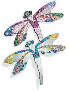 Mirror~ Assorted Rainbow Colour Hippy Bohemian Decorative Mosaic Dragonfly Mirror~ By Folio Gothic Hippy MC31